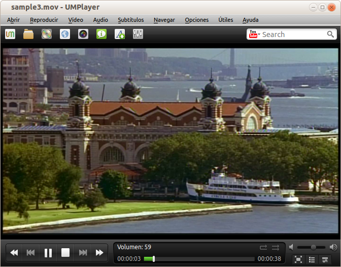 Screenshot from UMPlayer